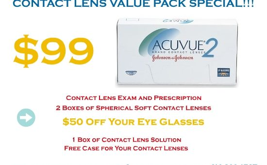Contact Lens Value Pack Special