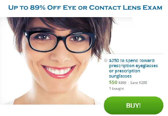 $50 for $250 to spend toward prescription eyeglasses or prescription sunglasses