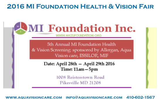 2016 MIF Vision & Health Fair – Baltimore, MD USA